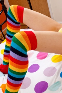 Rainbow Socks And Pink Pussy - Picture 10