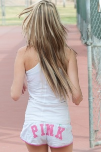 Tiny Blonde Sara Shows Off Her Tits On The Tennis Court - Picture 9